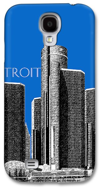 Detroit Skyline 1 - Blue Galaxy S4 Case