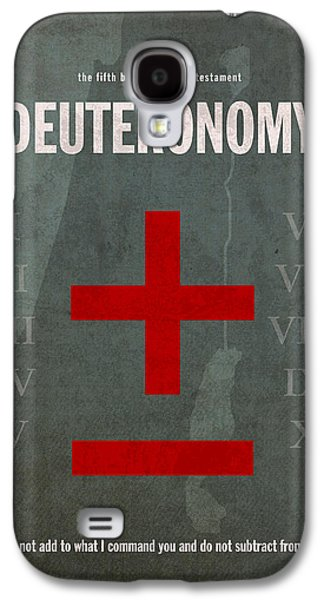 Deuteronomy Books Of The Bible Series Old Testament Minimal Poster Art Number 5 Galaxy S4 Case