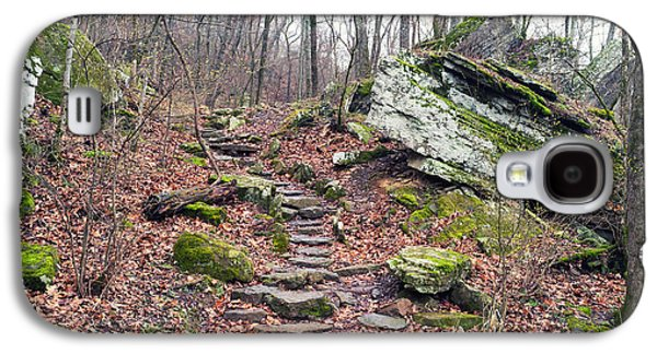 Devil's Den Stone Stairs In Autumn Galaxy S4 Case by Tanya Harrison