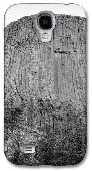 Devils Tower National Monument Bw Galaxy S4 Case by Elizabeth Sullivan