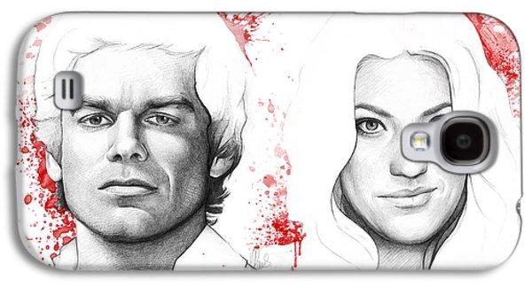 Dexter And Debra Morgan Galaxy S4 Case by Olga Shvartsur