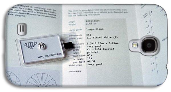 Diamond Grading Certificate Galaxy S4 Case by Patrick Landmann