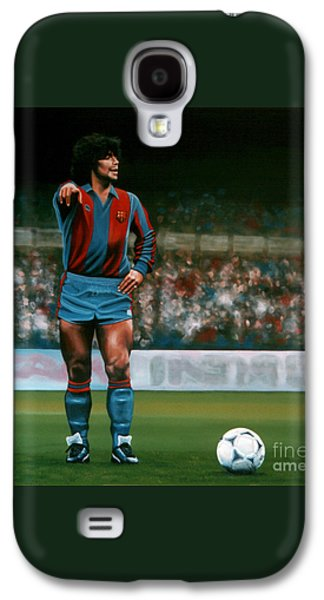 Diego Maradona Galaxy S4 Case by Paul Meijering