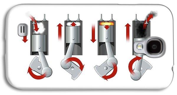 Diesel Engine Cylinder Galaxy S4 Case by Mikkel Juul Jensen