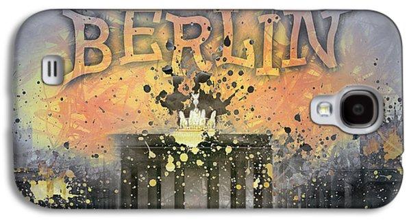 Digital-art Brandenburg Gate I Galaxy S4 Case by Melanie Viola