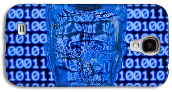 Digital Head Galaxy S4 Case by Shawn Hempel