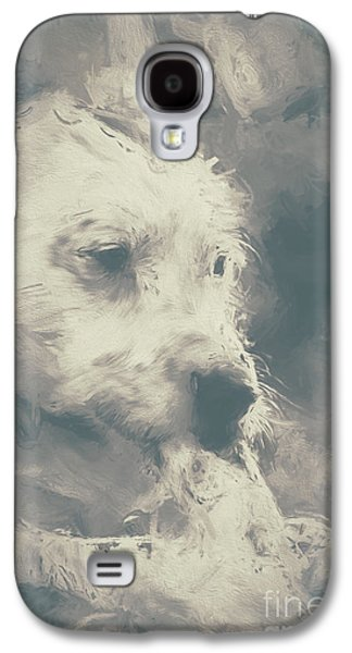 Digital Oil Painting Of A Cute Scruffy Dog  Galaxy S4 Case by Jorgo Photography - Wall Art Gallery