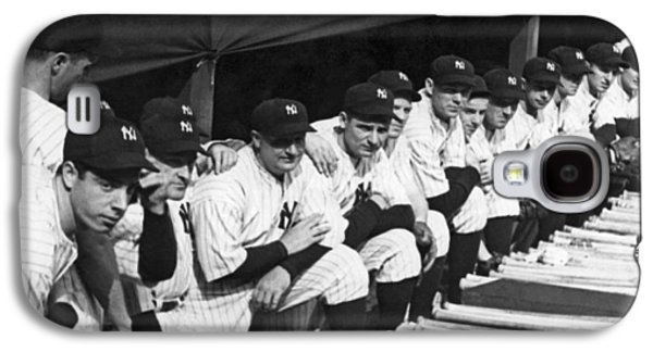 Dimaggio In Yankee Dugout Galaxy S4 Case by Underwood Archives
