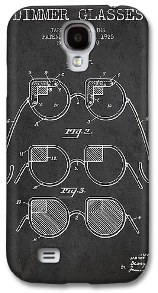 Dimmer Glasses Patent From 1925 - Dark Galaxy S4 Case