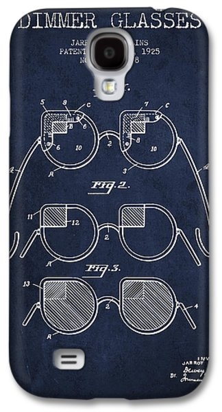 Dimmer Glasses Patent From 1925 - Navy Blue Galaxy S4 Case