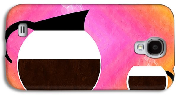 Diner Coffee Pot And Cup Sorbet Galaxy S4 Case by Andee Design