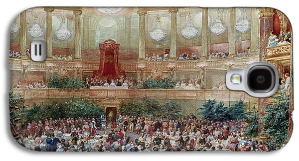 Dinner In The Salle Des Spectacles At Versailles Galaxy S4 Case by Eugene-Louis Lami