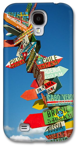 Directions Signs Galaxy S4 Case by Carlos Caetano