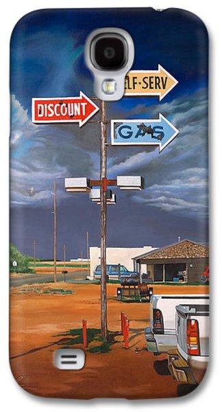 Discount Self-serv Gas Galaxy S4 Case by Karl Melton