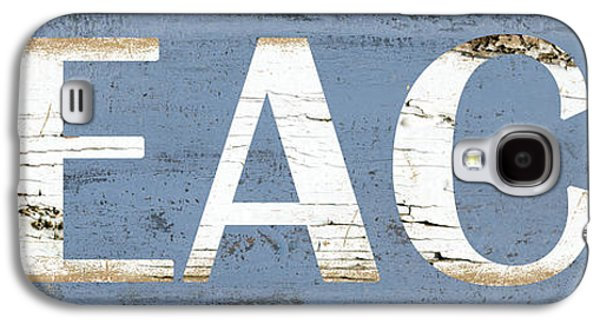 Distressed Beach Sign Galaxy S4 Case by Grace Pullen
