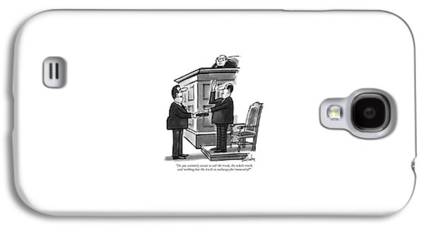 Do You Solemnly Swear To Tell The Truth Galaxy S4 Case by Dana Fradon