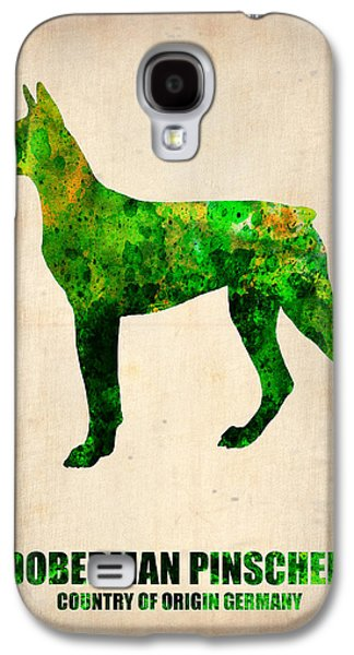Doberman Pinscher Poster Galaxy S4 Case by Naxart Studio