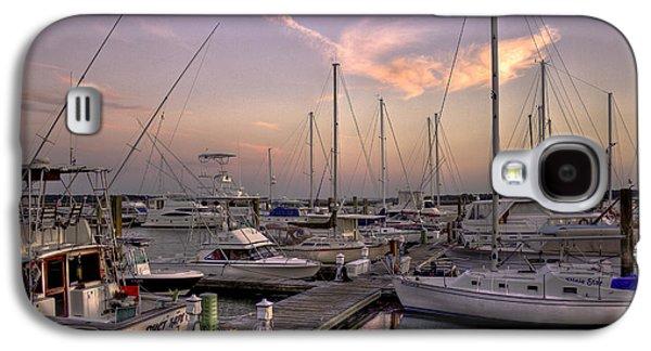 Dockside Sunset In Beaufort South Carolina Galaxy S4 Case by Reid Callaway