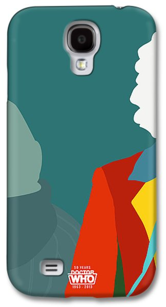 Doctor Who 50th Anniversary Poster Set Sixth Doctor Galaxy S4 Case by Jeff Bell