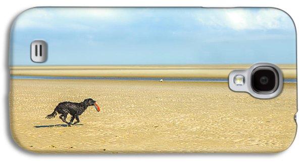 Dog Running On A Beach Galaxy S4 Case by Diane Diederich