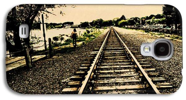 Dog Walk Along The Wayzata Train Tracks Galaxy S4 Case