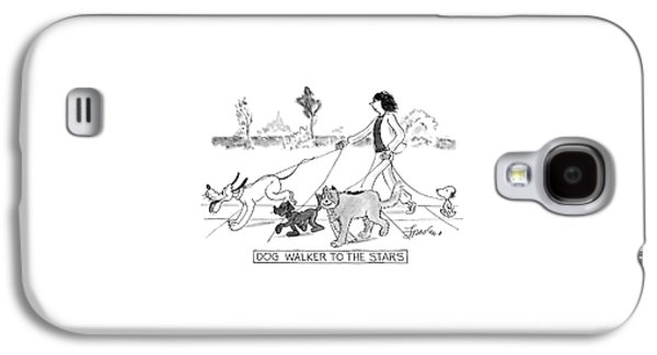 Dog Walker To The Stars Galaxy S4 Case by Edward Frascino