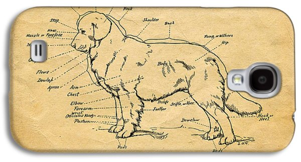 Doggy Diagram Galaxy S4 Case by Tom Mc Nemar