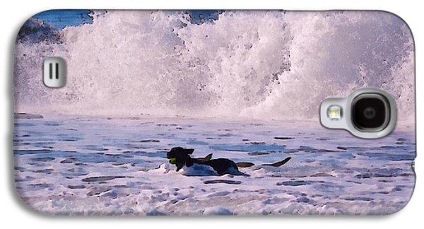 Dogs At Carmel California Beach Galaxy S4 Case by Barbara Snyder
