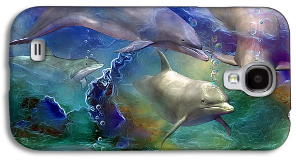 Dolphin Dream Galaxy S4 Case by Carol Cavalaris