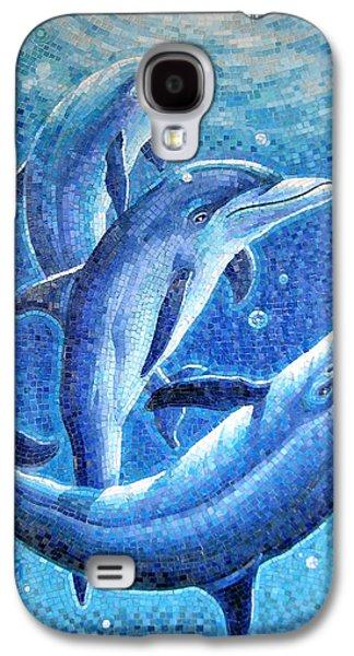 Dolphin Trio Galaxy S4 Case by Mia Tavonatti