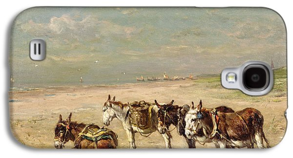 Donkeys On The Beach Galaxy S4 Case by Johannes Hubertus Leonardus de Haas