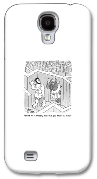 Minotaur Galaxy S4 Case - Don't Be A Stranger by Gahan Wilson
