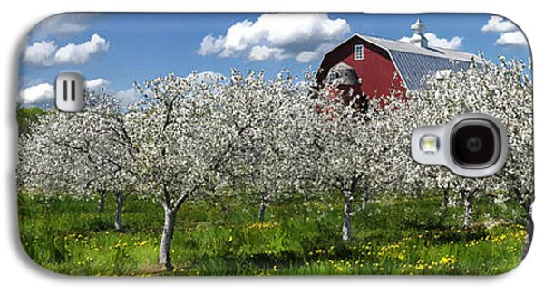 Door County Cherry Blossoms Panorama Galaxy S4 Case by Christopher Arndt