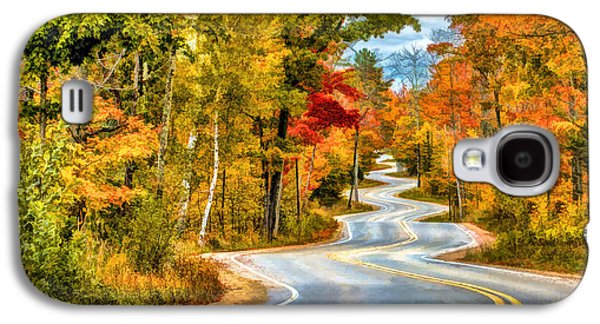 Door County Road To Northport In Autumn Galaxy S4 Case by Christopher Arndt