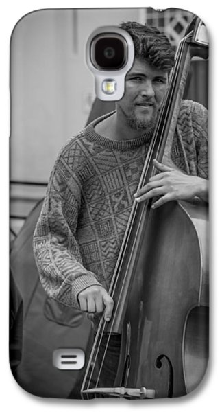 Double Bass Player Galaxy S4 Case by David Morefield
