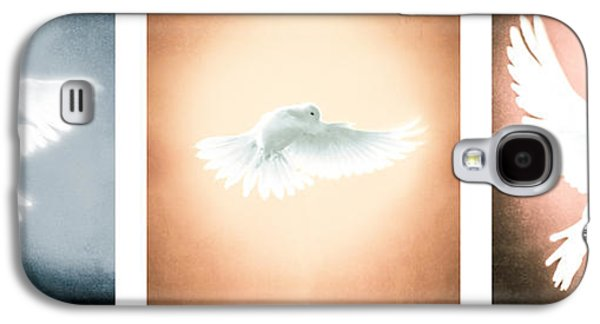 Dove In Flight Triptych Galaxy S4 Case by YoPedro