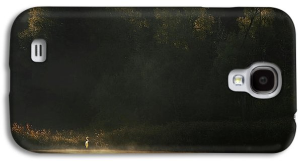 Heron Galaxy S4 Case - Down By The River by Norbert Maier