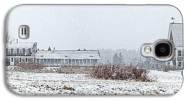 Down East Maine Farmhouse And Barn Galaxy S4 Case by Marty Saccone
