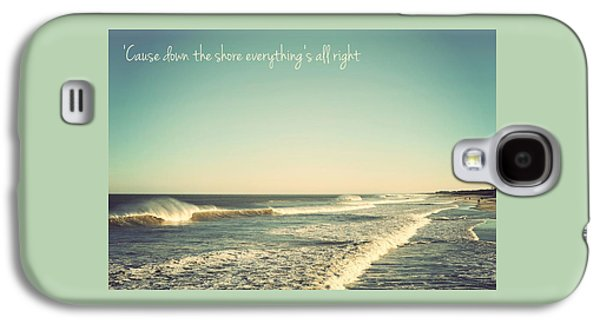 Down The Shore Seaside Heights Vintage Quote Galaxy S4 Case