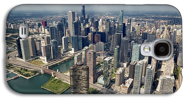 Downtown Chicago Aerial Galaxy S4 Case by Adam Romanowicz