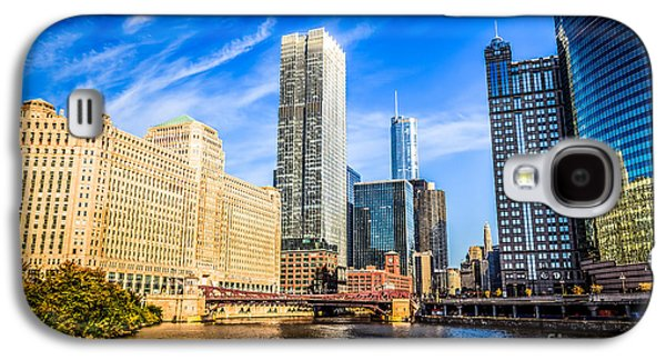 Downtown Chicago At Franklin Street Bridge Picture Galaxy S4 Case by Paul Velgos