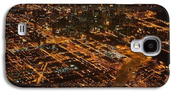 Downtown Chicago At Night Galaxy S4 Case