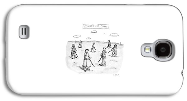 Dowsing For Coffee Galaxy S4 Case by Roz Chast