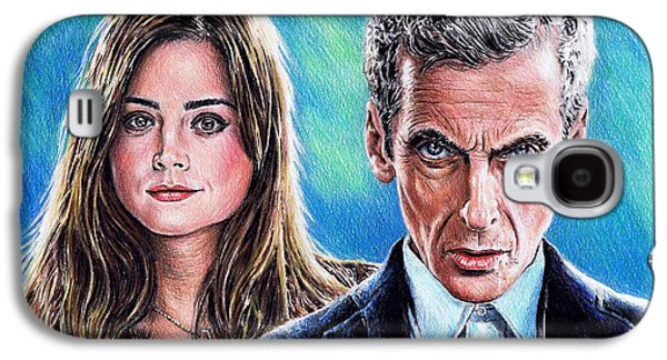 Dr Who And Clara Galaxy S4 Case by Andrew Read