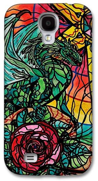 Dragon Galaxy S4 Case - Dragon by Teal Eye  Print Store