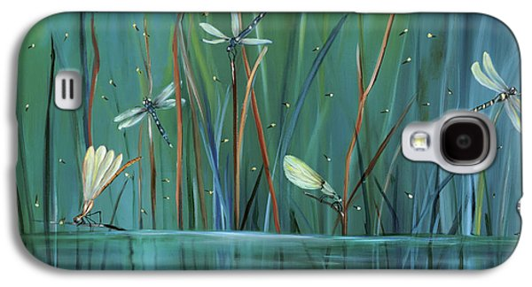 Impressionism Galaxy S4 Case - Dragonfly Diner by Carol Sweetwood