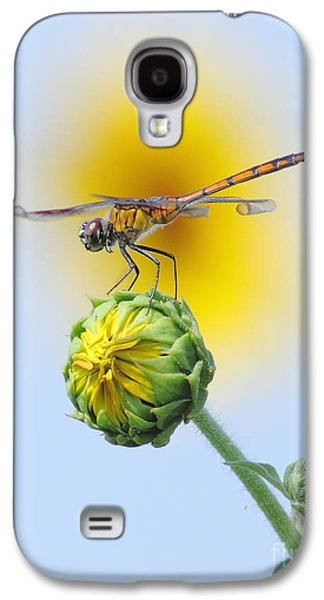 Dragonfly In Sunflowers Galaxy S4 Case