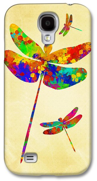 Dragonfly Watercolor Art Galaxy S4 Case by Christina Rollo