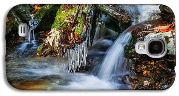 Dragons Teeth Icicles Waterfall Great Smoky Mountains Painted  Galaxy S4 Case by Rich Franco