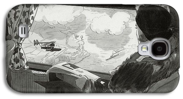 Drawing Of Female Passenger Flying Over Havana Galaxy S4 Case by  Lemon